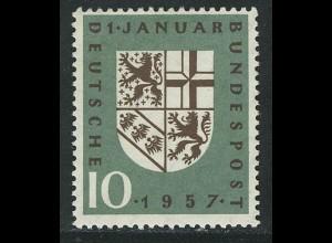249 Eingliederung des Saarlandes ** postfrisch