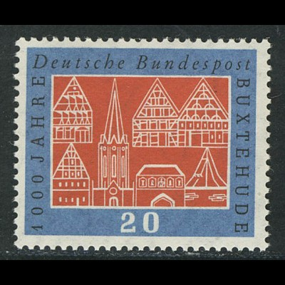 312v Buxtehude, geriffelte Gummierung, ** postfrisch