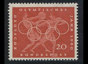 334 Olympische Sommerspiele 20 Pf Diskuswerfen **