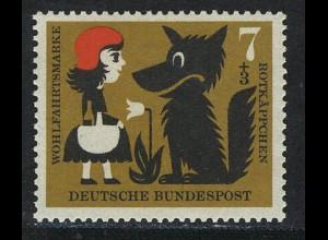 340 Wohlfahrt Brüder Grimm 7+3 Pf Rotkäppchen **