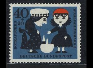343 Wohlfahrt Brüder Grimm 40+20 Pf Rotkäppchen **