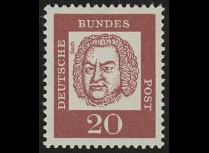352 Bedeutende Deutsche 20 Pf ** Bach