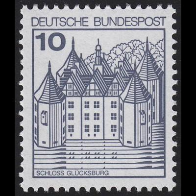 913AII Burgen und Schlösser 10 Pf Glücksburg, ** LETTERSET
