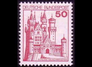 916A Burgen und Schlösser 50 Pf Neuschwanstein, **