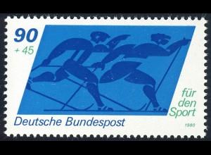 1048 Sporthilfe 90+45 Pf Skilanglauf **