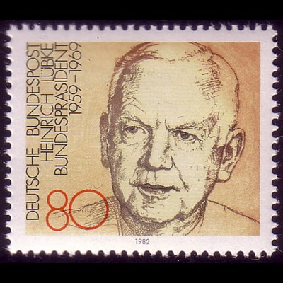 1157 aus Block Bundespräsident Dr. Heinrich Lübke **