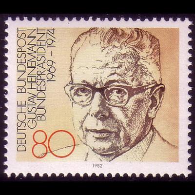 1158 aus Block Bundespräsident Gustav Heineman **