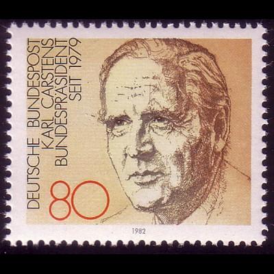 1160 aus Block Bundespräsident Karl Carstens **