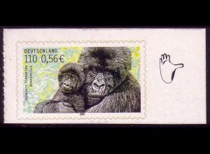 2204 Bedrohte Tierarten Berggorilla selbstklebend **