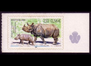 2205 Bedrohte Tierarten Nashorn selbstklebend **