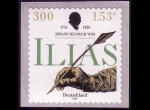 2251 Johann Heinrich Voß SELBSTKLEBEND, ** postfrisch