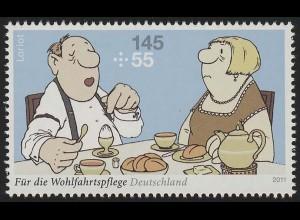 2839 Wofa Loriot Das Frühstücksei ** postfrisch