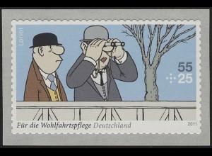 2843 Wofa Loriot Auf der Rennbahn SELBSTKLEBEND aus Rolle, **