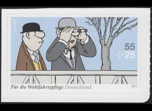 2843 Wofa Loriot Auf der Rennbahn SELBSTKLEBEND aus MH 83, **