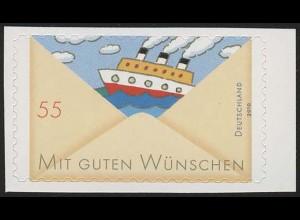 2848 Grußmarke: Schiff SELBSTKLEBEND aus Folienblatt 13, **