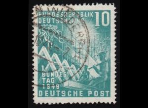 111 Bundestag 10 Pf O gestempelt
