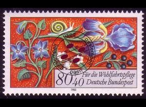 1261 Wohlfahrt Miniaturen 80+40 Pf O gestempelt