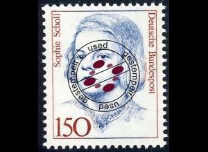 1497 Frauen 150 Pf Sophie Scholl - O gestempelt