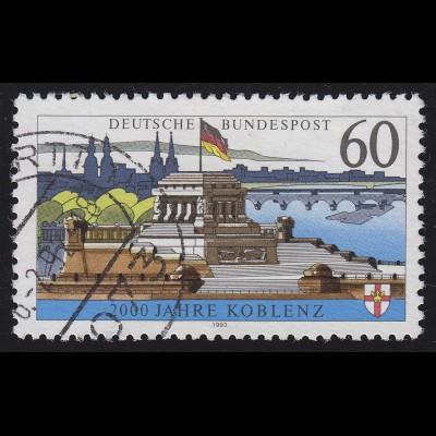 1583x Koblenz, ohne Fluoreszenz, gestempelt