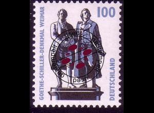 1934A Sehenswürdigkeiten 100 Pf Goethe-Schiller-Denkmal Weimar, O