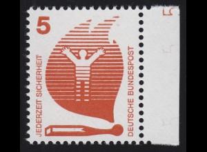 694 Unfallverhütung 5 Pf ** DZ 5, Einzelmarke