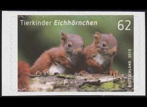 3129 Tierkinder: Eichhörnchen, selbstklebend aus FB 44, **