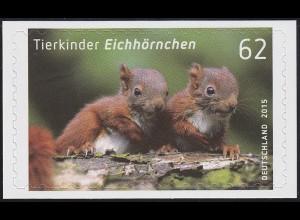 3129 Tierkinder: Eichhörnchen, selbstklebend, auf neutraler Folie, **
