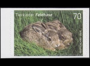3223 Tierkinder: Feldhase, selbstklebend aus Folienblatt 55, **
