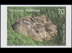 3223 Tierkinder: Feldhase, selbstklebend auf neutraler Folie, **