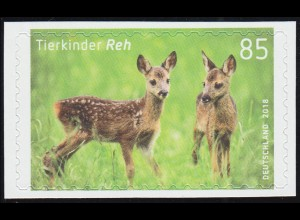 3377 Tierkinder: Reh (Rehkitz), selbstklebend aus Folienblatt 75, **