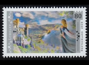 3567 Sagenhaftes Deutschland: Die Loreley, ** postfrisch
