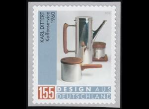 3570 Karl Dittert - Kaffeeservice, selbstklebend, ** postfrisch