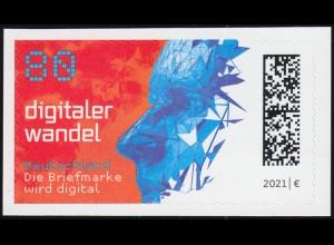 3592A Digitaler Wandel, selbstklebend WEIT gestanzt aus Folienblatt 104A, **