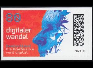3592 Digitaler Wandel, selbstklebend auf neutraler Folie, ** postfrisch