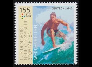 3604 Sporthilfe - Wellenreiten, ** postfrisch