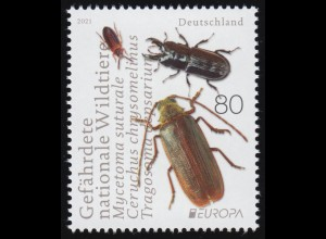 3605 EUROPA - Gefährdete nationale Wildtiere: Drei Käferarten, ** postfrisch