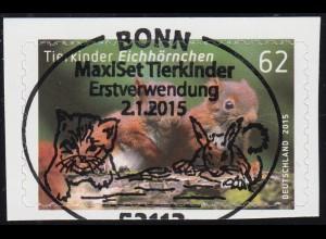 3129 Tierkinder: Eichhörnchen, selbstklebend aus FB 44, EV-O Bonn