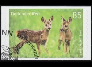 3377 Tierkinder: Reh (Rehkitz), selbstklebend auf neutraler Folie, EV-O Bonn