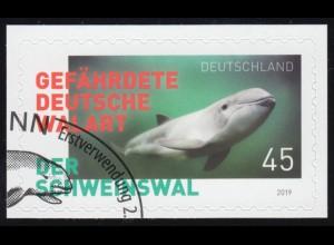 3437 Der Schweinswal, selbstklebend auf neutraler Folie, O