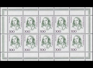 1433 Frauen 300 Musikerin Fanny Hensel - 10er-Bogen ** postfrisch
