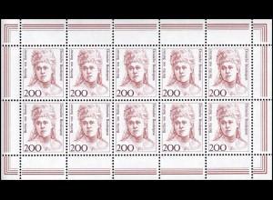 1498 Frauen 200 Bertha von Suttner - 10er-Bogen ** postfrisch