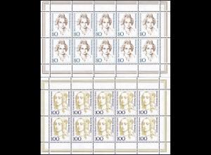 1755-1756 Frauen 80/100 Pf, 10er-Bogen-Satz **
