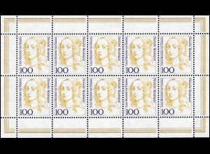 1756 Frauen 100 Pf Luise Henriette von Oranien - Kleinbogen **