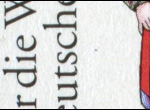 1759 Wohlfahrt Trachten Minden - 10er-Bogen mit PLF Punkt unter sc, Feld 10 **