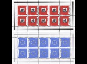 1790-1791 Europa Frieden und Freiheit - 10er-Bogen-Satz **