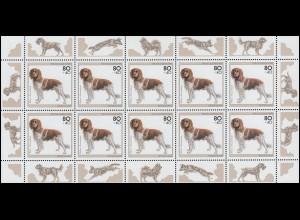 1797 Jugend Hunde: Kleiner Münsterländer 1995 - Kleinbogen **