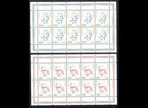2149-2150 Frauen 100/110 Pf. Weiser/Strobel - 10er-Bogen-Satz ** postfrisch