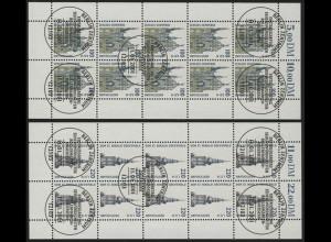 2156-2157 SWK Schwerin & Greifswald - 10er-Bogen-Satz gemischt ** / ESSt Berlin