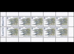 2156 SWK 100 Pf / 51 Cent Schloss Schwerin - 10er-Bogen **