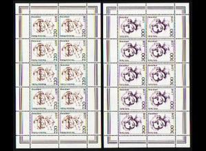 2158-2159 Frauen 220/300 Pf Fleißer/Sachs - 10er-Bogen-Satz, **